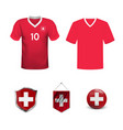 set soccer jersey or football kit template for vector image vector image