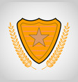 shield with star symbol vector image vector image