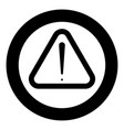 sign of attention the black color icon in circle vector image vector image