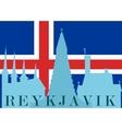 Silhouette of Reykjavik vector image