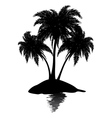 Small island silhouette vector image vector image