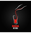 soda bottle splash design menu background vector image vector image