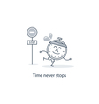 Time never stops vector image vector image