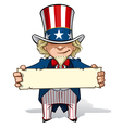uncle sam holding a sign vector image