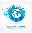 world water day aqua map banner vector image