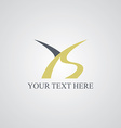 ys initial letter logotype vector image vector image