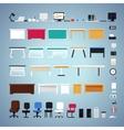 Office Furniture Set vector image