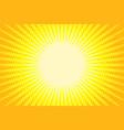 yellow rays pop art background vector image