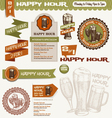 beer happy hour design elements vector image vector image