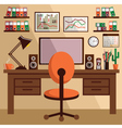 Business workplace with office things equipment vector image vector image