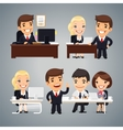 Businessmen at the Table Teamwork vector image vector image