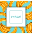 Card with bananas Tropical abstract frame in vector image vector image