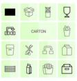 carton icons vector image vector image