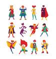 collection kids superheroes bundle boys and vector image