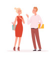 couple with gifts surprise man woman holding vector image vector image