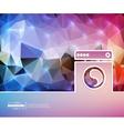 Creative washing machine Art vector image