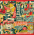 cute college sporting labels patchwork vector image