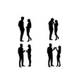 dating silhouette vector image
