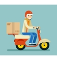 Delivery Courier Motorcycle Scooter Box Symbol vector image vector image