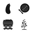 eggplant cucumber and other web icon in black vector image vector image