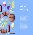 exquisite wine making process promotional poster vector image