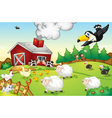 Farm scene vector | Price: 3 Credits (USD $3)