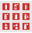 fire extinguisher icons and signs vector image