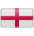 Flags England in the form of a magnet on vector image