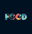 food concept word art vector image vector image