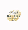fresh bakery abstract sign symbol or logo vector image vector image