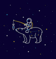 funny cartoon astronaut sits on the constellation vector image vector image
