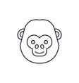 funny chimpanzee line icon concept funny vector image vector image