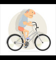 funny man on a bicycle vector image vector image