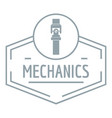 gear mechanic logo simple gray style vector image