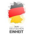 german independence day concept background hand vector image vector image