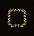 golden luxury style calligraphic design vector image vector image