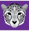 Gray low poly cheetah vector image
