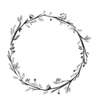 gray scale decorative crown floral vector image vector image