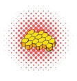Honeycomb icon comics style vector image vector image