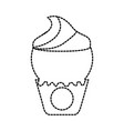 ice cream in paper cup snack sweet vector image