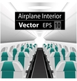 interior of the passenger airplane vector image vector image