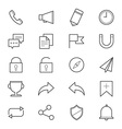 Internet and Website Icons Line vector image vector image