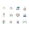 Internet articles flat color icons set vector image
