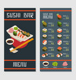 japanese restaurant menu template vector image vector image