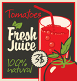 Juice tomatoes vector image