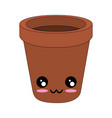 kawaii flower pot icon vector image