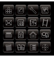 line mobile phone and computer icon vector image vector image