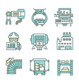 Manufacturing Process Icons vector image vector image