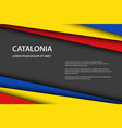 modern background with catalan colors and grey vector image vector image