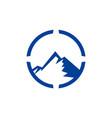 mountain concept abstract logo icon vector image vector image